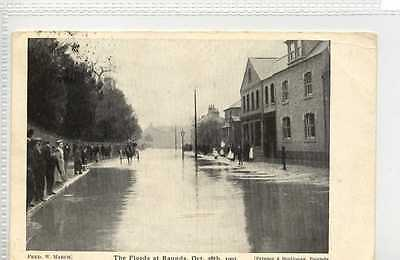 (Gw698-451)  Floods at RAUNDS, 1903  Used G-VG