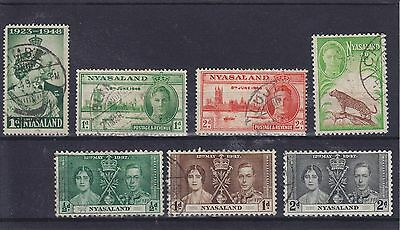 Nyasaland KGVI Omnibus Issues Used Collection