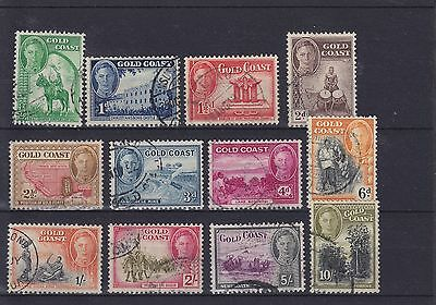 Gold Coast KGVI SG 135/146 set Used Collection