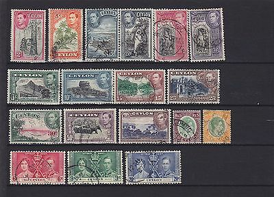Ceylon KGVI Used Collection