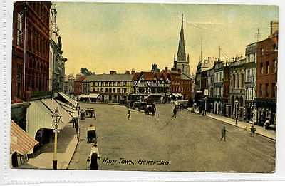 (Lb8422-438) High Town, HEREFORD  1914  Used,