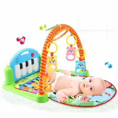 3 in 1 Rainforest Musical Lullaby Baby Activity Playmat Gym Toy Soft Play Mat UK