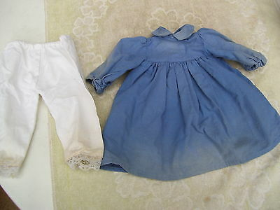 Alte Puppenkleidung Jeans Blue Dress Outfit vintage Doll clothes 40 cm Girl