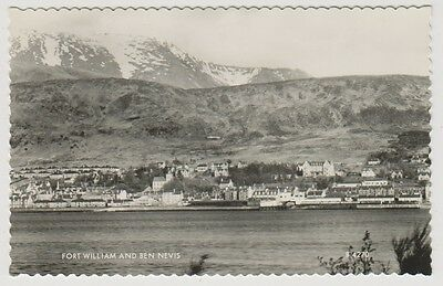 Inverness-shire postcard - Fort William and Ben Nevis - RP