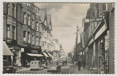 Inverness-shire postcard - High Street, Fort William - RP - P/U 1961