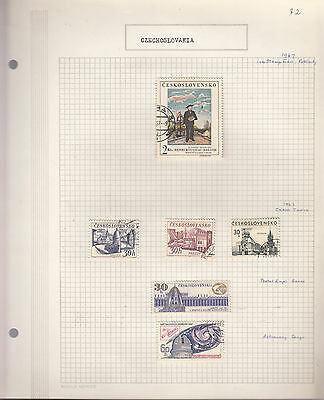 CZECHOSLOVAKIA 1967  Collection On old Album Page VFU Removed for Ship.(c)