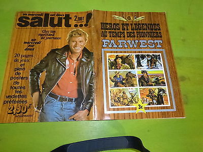 Johnny Hallyday - Farwest  - Album Style Panini -Manque 14 Images!!!!