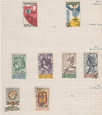 CZECHOSLOVAKIA 1962 on Old Book Pages,as per scan #