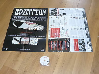 Led Zeppelin - Good Time Bad Times / Whole Lotta Love + Poster! Rare French Pack