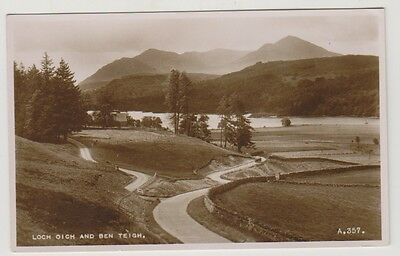 Inverness-shire postcard - Loch Oich and Ben Teigh - RP