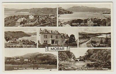 Inverness-shire postcard - Morar (Multiview showing 7 views) - RP