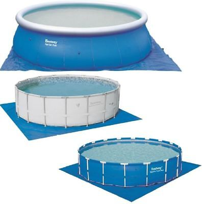 New Bestway Swimming Paddling Fast Set Frame Pool Ground Cloth Protector 19'X19'