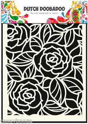 A5 Dutch Doobadoo Mask - Big Roses - Flowers - Stencil - Embossing - 023 - New