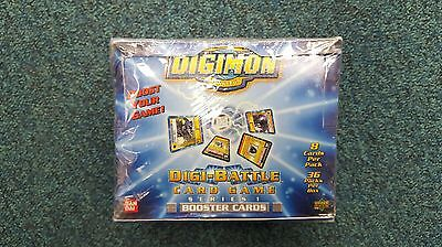 Digimon Series 1 Booster Box 36 Packs 1st Edition **RARE COLLECTIBLE** **NEW**