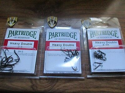 Partridge Heavy Salmon Double Hooks Code P Packs of 10 All Sizes