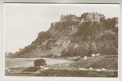 Stirlingshire postcard - Stirling Castle from Kings Knot - RP