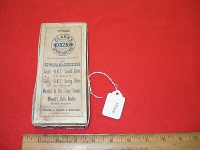 George A. Clark Empty Box for Thread Spools No. 40 White O.N.T. Advertising