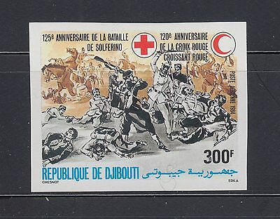 Djibouti 1984 Red Cross Sc C203 IMPERF  Mint Never Hinged