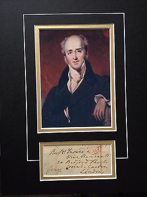 Earl Charles Grey - Former Prime Minister - Signed Colour Photo Display