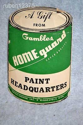 Vtg 1960's Gambles Paint Headquarters Advertising Paint Can Sewing Needle Book