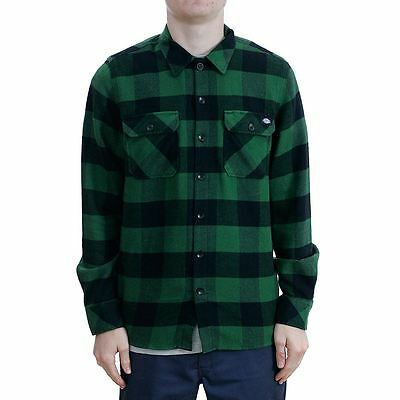 Dickies Apparel Sacramento Flannel Shirt Pine Green All Sizes New Free Delivery