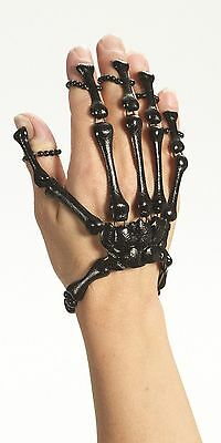 Skeleton Hand Black Bracelet Bone Jewelry Gothic Halloween Costume Accessory
