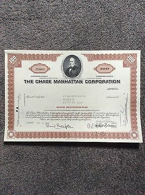 Chase Manhattan Corp. Dated 1970SharesINVALID SHARE CERTIFICATE