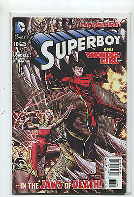 Superboy And Wonder Woman  #10 NM The New 52 In The Jaws Of Death  DC **9