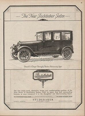 1918 Studebaker Series 19 Sedan South Bend Indiana Antique Closed Car Print Ad