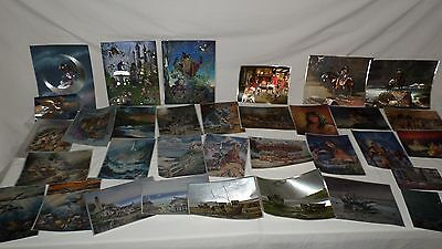 DUFEX lot 35 Assorted Subject Foil Prints, 3 sizes Collectible