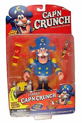 Cap'N Crunch with Treasure Chest Action Figure by Fun House NIB 2001 Cereal NIP