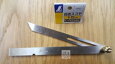 "Japanese Shinwa 62588 Sliding Bevel Gauge 150mm (6"") Stainless Steel"