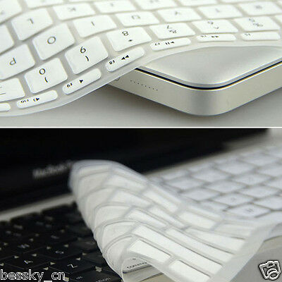 "HOT Silicone Keyboard Skin Cover For Apple Macbook Pro Air Retina 13.3"" White"