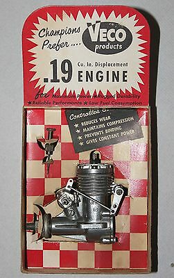 Veco 19 R/C Glow Engine with TCC in its box circa 1959