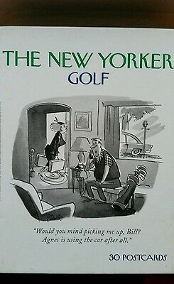 New Yorker Golf Post Cards x 30 Christmas Present