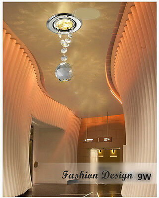 * Chandelier Crystal Recessed 3*3W LED Night Lamp Decoration Ceiling Lighting