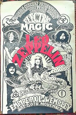 "Electric Magic featuring Led Zeppelin, Wembley Empire Pool 1971 20"" x 30"" poster"