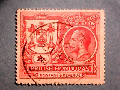British Honduras: KGV 1921 2c Peace Commemoration. SG121. Wmk Mult Crown CA Used