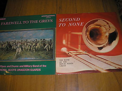 Lot Of 2 Military Band Lp's-Band Of  Royal Scots Greys & Farewell To The Greys