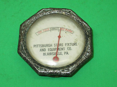 Vintage Pittsburgh Store Fixture~Blairsville, Pa~Advertising Frig Thermometer