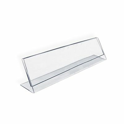 Azar 112702 6  W x 2  H L-Shaped Acrylic Sign Holder, 10Pack