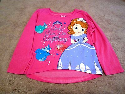 Baby Girls Toddler Disney Sofia The First Graphic Long Sleeve Shirt Size 3T