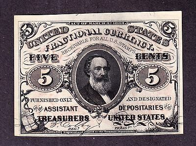 US 5c Fractional Currency 3rd Issue Red Back FR 1236 Ch CU