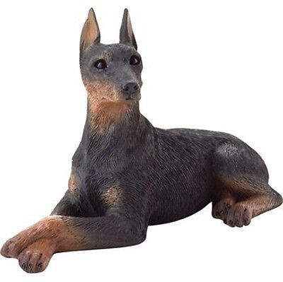Doberman Pinscher Figurine Hand Painted - Sandicast