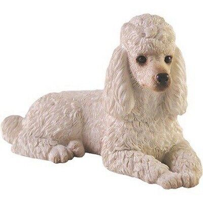 Poodle Figurine Hand Painted White – Sandicast