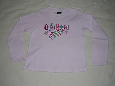 Girls OSH KOSH long sleeved top age 4 yrs white good condition