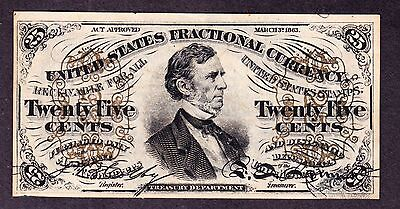 US 25c Fractional Currency Green Back FR 1294 Ch CU