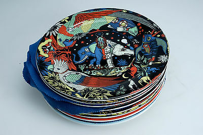 """(E) Lot of 8 BOPLA Large Flat Plates 31cm Dinner 12 1/4"""" Charger Mixed Pattern"""
