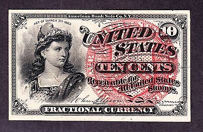 US 10c Fractional Currency 4th Issue FR 1258 Ch CU