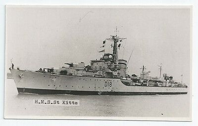 HMS ST KITTS Battle class Destroyer Royal Navy Unused PC-size RP Card
